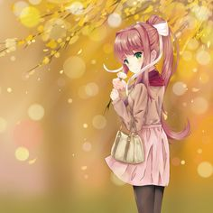 I wanted to draw something for Monika : DDLC