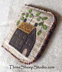 Homestead Needlekeeper Pattern Wool Applique by ThreeSheepStudio