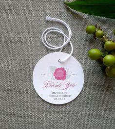 Bridal Shower Favor Tag   Set of 12  2.25 by SideStreetDesigns, $8.00