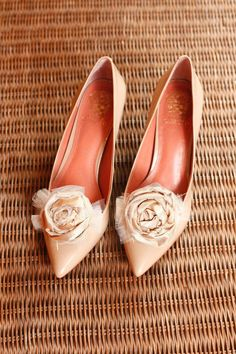Cream and Tan Taffata and Tulle Hand Rolled Rosette by LOKdesigns, $15.00