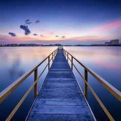 Rosy Sunset Pier - Wall Mural & Photo Wallpaper - Photowall