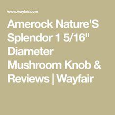 "Amerock Nature'S Splendor 1 5/16"" Diameter Mushroom Knob & Reviews | Wayfair King William, Knob, Stuffed Mushrooms, 1, Home, Nature, Stuff Mushrooms, Naturaleza, Ad Home"
