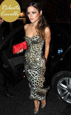 Rachel-Bilson-Leopard-Dress-Roberto-Cavalli | Beauty Moves Me