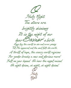 O Holy Night Christmas Tree Printable