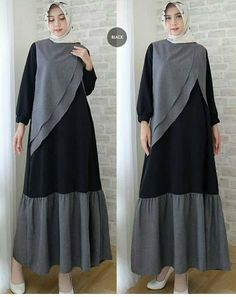 Hijab Fashion 2016, Abaya Fashion, Girl Fashion, Fashion Dresses, Muslim Long Dress, Moslem Fashion, Hijab Style Dress, Batik Fashion, Batik Dress