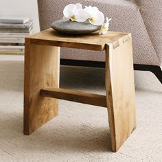 You can't go wrong with a beautiful stool made from solid wood. Even better, this stool (which also doubles as a side table) has been artfully crafted from the roots of a teak tree. Not only is it durable and beautiful, this tough wood is water-resistant and safe to use indoors and out.