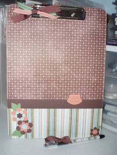 Birds and Blooms clipboard by krista824 - Cards and Paper Crafts at Splitcoaststampers