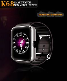 K68 Smart Watch 1.54ich G+F Screen Bluetooth With Heart Rate Monitor For IOS Android OS