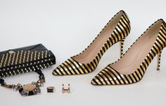 Black and gold. A super luxe combination for accessories.