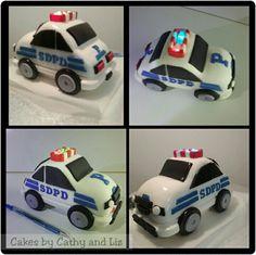 Police Car fondant cake topper