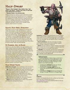 Half-Dwarf                                                                                                                                                                                 More