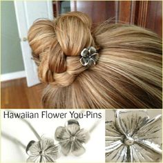 DIY hair idea - The You-Pins work well for securing buns, braids, or any other hairstyle that you want styled up off your neck!