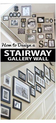Stairway Picture Wall, Stairway Pictures, Stairway Gallery Wall, Gallery Wall Layout, Art Gallery, Gallery Frames, Staircase Picture Walls, Ideas For Stairway Walls, Stairway Art