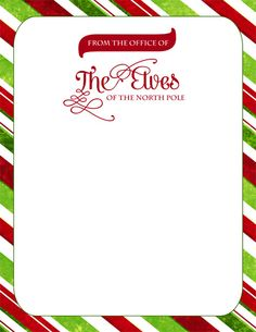 Elf Official Letterhead - designed by Sassy Designs, Inc. FREE DOWNLOAD! http://sassy-designs.net/freebies/ELF-OFFICIAL-LETTERHEAD-bySDI.pdf