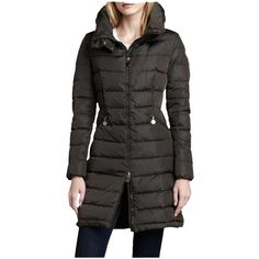 Pre-owned Moncler Jacket Coat ($1,092) ❤ liked on Polyvore featuring outerwear, coats, black, fitted coat, black puffer coat, moncler, moncler coats and hooded puffer coat
