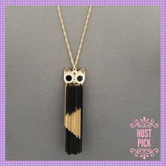 """🎉HP X2🎉🙀Long Gold & Black Tassel Cat Necklace🙀 🎉🎉HOST PICK X'S 2 SAME PARTY - WEEKEND WARRIOR PARTY - 4/9/2016 - CHOSEN BY: @nattynomad (Emily) AND @jillianka (Jillian)🎉🎉😺⭐️😺ABSOLUTELY ADORABLE Long Gold & Black Tassel Necklace. Fashionable & Very Stylish, Approx. 30"""" L ADJUSTABLE, EVERYONE will fall in love with this adorable necklace. Gold Alloy, Lobster Claw Closure😺⭐️😺PRICE IS FIRM😺⭐️😺 Boutique Jewelry Necklaces"""