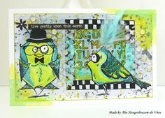 Alie Hoogenboezem-de Vries: Tim Holtz Crazy Birds, part...??? :-)))