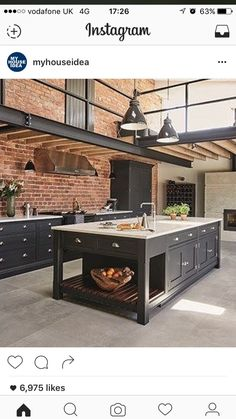 """I want all what allow me to cook to be on this middle """"table"""" in my future house."""