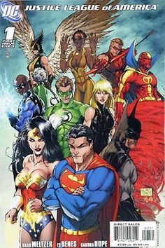 Cover of Justice League of America vol. 2, 1 (Oct, 2006).Art by Michael Turner. Incentive variant cover
