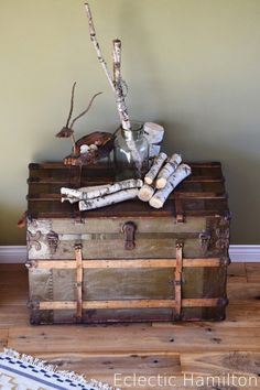 Deko Koffer Set Retro Vintage Shabby Chic Truhe Set 3 Tlg. In Möbel U0026  Wohnen, Möbel, Truhen U0026 Kisten | EBay | Shabby Chic Deko | Pinterest | Deko  Koffer, ...