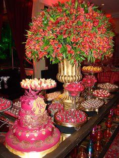 Mesa de doces/leda@ledaoliveira.com.br Festa Indiana