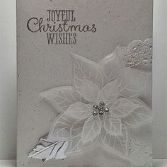 Dreaming of a White Christmas Card. SU stamp. For My handmade greeting cards visit me at My English Personal blog: http://stampingwithbibiana.blogspot.com/