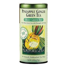 The Republic of Tea Pineapple Ginger Green Tea 50Count >>> For more information, visit image link. (This is an affiliate link and I receive a commission for the sales)