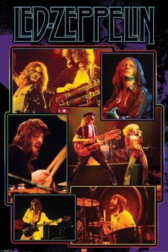 LED Zeppelin Posters | Home - Led Zeppelin Collage Poster