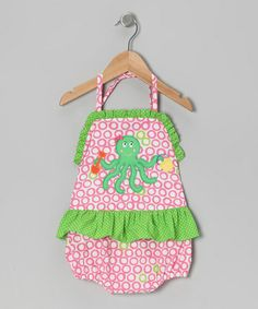 Take a look at this Pink Octopus Halter One-Piece - Infant, Toddler & Girls by Petite Palace on #zulily today!