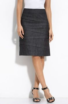 NIC+ZOE Nic + Zoe A-Line Denim Skirt available at #Nordstrom