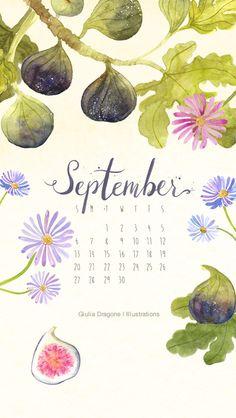 Wallpaper per smartphone Vintage Calendar, Art Calendar, Calendar Wallpaper, Kids Calendar, 2021 Calendar, Pretty Backgrounds, Wallpaper Backgrounds, Iphone Wallpaper, September Wallpaper