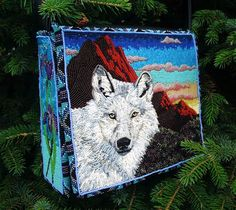 beautiful bead embroider bag