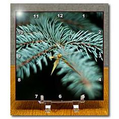 A Pine Tree shot up close with a large aperture at night Desk Clock