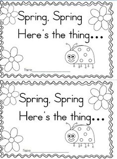Maggies Kinder Corner: FREEBIE! Spring, Spring, Heres the Thing...Poetry Reader