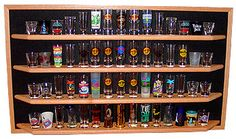 60 Oak Shot Glass Display Case Open Custom Colors | eBay