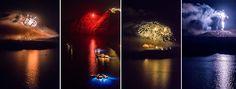 A Breathtaking Video of Santorini Fireworks Volcano Festival – ΗΦΑΙΣΤΕΙΑ 2014 Fireworks Festival, Fireworks Show, Santorini Island, Santorini Greece, Santorini Wedding, Cultural Events, Unique Image, Videography, Cinematography