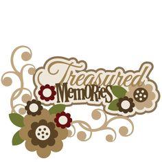 Treasured Memories SVG scrapbook title flower svg files flowers svg cut files free svgs