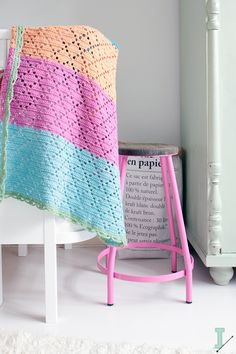 """IDA interior lifestyle: Filet baby blankets :: """"Holland"""" and """"Sicily"""""""
