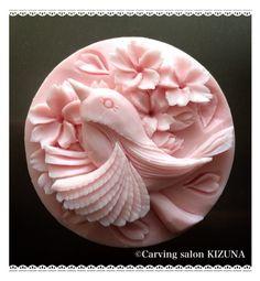 ソープカービングSoap carving work#craft Soap Sculpture, Cold Porcelain Flowers, Soap Carving, Exfoliating Soap, Soap Molds, Silicone Molds, Luxury Soap, Carving Designs, Art Carved