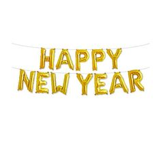 New Years Decorations Happy New Year Balloons Gold New Years Eve Decor New Years Party Ideas Party Decorations New Years NYE Party Supplies #newyearseve #nye