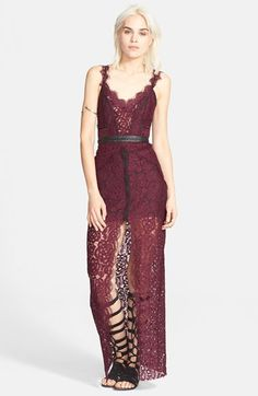 Free+People+Lace+Column+Maxi+Dress+available+at+#Nordstrom
