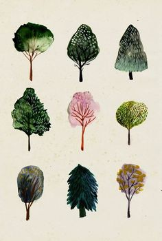 Trees - Watercolor