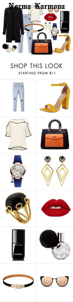 Norma Karmona by normacarmona on Polyvore featuring moda, See by Chloé, Steve Madden, Vivienne Westwood, Valentin Magro, Sarah Magid, Linda Farrow, Lime Crime and Chanel
