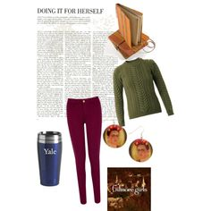 a day in the life of rory gilmore by connie1934 on Polyvore featuring polyvore, fashion, style, Balmain and Oasis