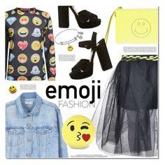 """Wink, Wink: Emoji Fashion"" by monica-dick ❤ liked on Polyvore featuring Pilot, Marc Jacobs, Anya Hindmarch, MANGO, Prada, New Balance, polyvoreeditorial and emojifashion"