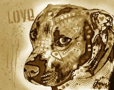 """""""Gratitude Pit Bull Limited Edition"""" - Pit Bull (artwork by Dean Russo)"""