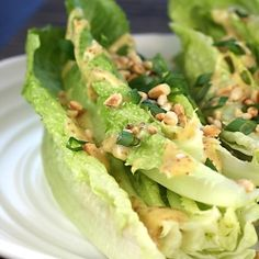 Romaine with miso-mustard dressing by foodgal
