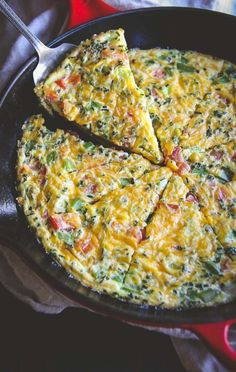 5 Ingredient vegetable breakfast frittata recipe from @Sweetphi , super easy healthy breakfast recipe,