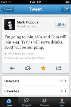 lol greatest thing, love Mark's tweets :))