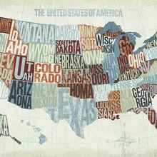 Wall Mural - USA Modern Blue